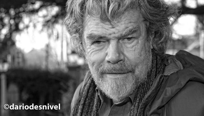einhold Messner en la Semana Montaña de Guadarrama (diciembre 2018). ©Darío Rodríguez/DESNIVEL